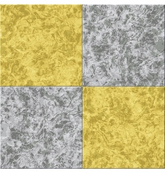 Abstract gray yellow marble seamless texture tiled vector