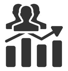 Audience chart trend flat icon vector