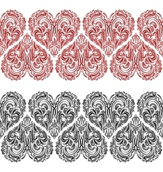 Seamless pattern valentine hearts vector