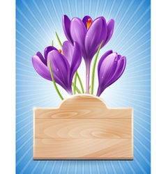 Spring design with flowers vector