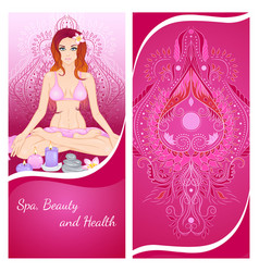 yoga girl flyer vector image