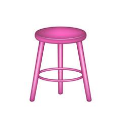 retro stool in pink design vector image
