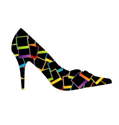 shoe with polaroids vector image
