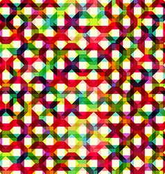 Pattern of colored geometric elements vector