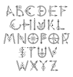 Original unique creative hipster black alphabet vector