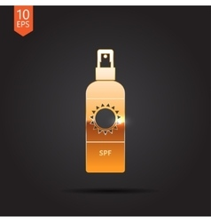 Set of flat bottles vector