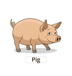 Pig animal cartoon for children vector image