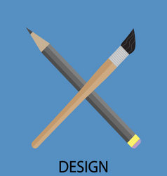Design icon flat vector
