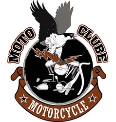 Motorcycle biker racing design vector