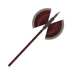Axe steel isolated and sharp axe cartoon weapon vector