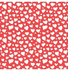 Abstract Hearts Seamless Pattern Doodle Texture vector image