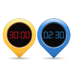 Digital timers vector