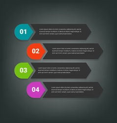 Steps design for business info-graphics vector