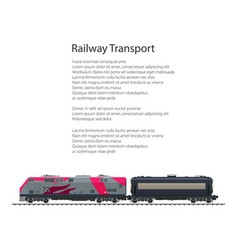 brochure locomotive with tank on railway platform vector image vector image