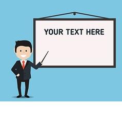 businessman and presentation board vector image vector image
