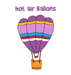 Cartoon of hot air balloon vector