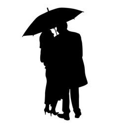 couple under an umbrella vector image vector image