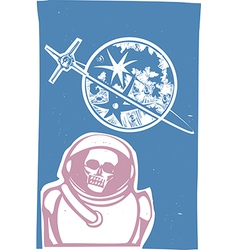 Dead cosmonaut vector