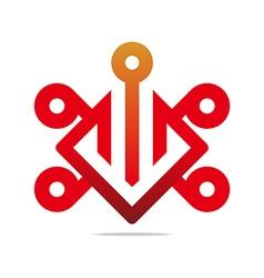 Design element number 9 6 icon symbol vector