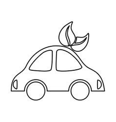electric car symbol vector image