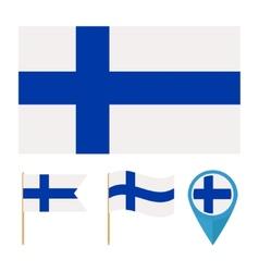 Finland Europecountry flag vector image vector image