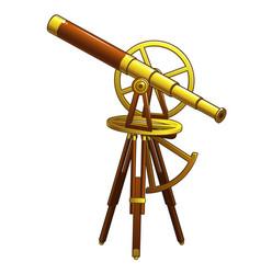 golden ancient astronomical telescope vector image vector image