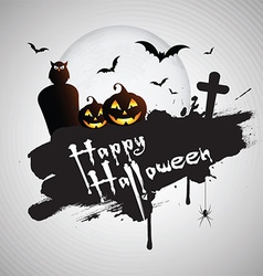 Grunge Halloween background vector image vector image