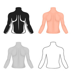 Human back icon in cartoon style isolated on white vector