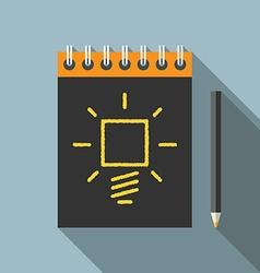 Idea pencil and notebook vector image vector image