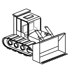 Isolated under construction machinary design vector image vector image