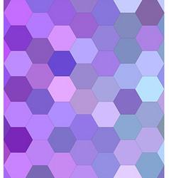 Light purple hexagon mosaic background design vector
