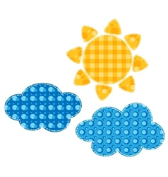 Patchwork sun vector image vector image