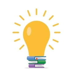 Printlight bright idea vector