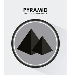 pyramid icon vector image