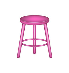 Retro stool in pink design vector