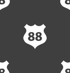 Route 88 highway icon sign seamless pattern on a vector