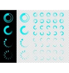 Transparent Preloaders Motion Round Loader vector image