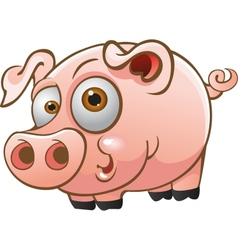 young pig vector image vector image