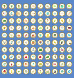 100 sales icons set cartoon vector image vector image