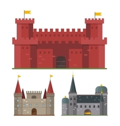 Castle tower building vector image