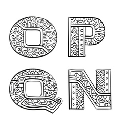 Vintage set of initial letters vector