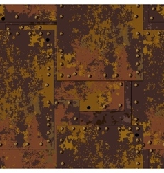 Rust plate background vector