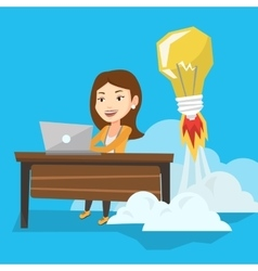 Successful business idea vector