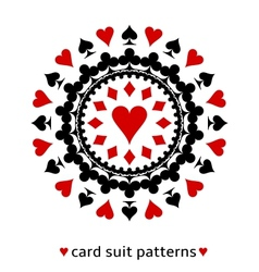Heart card suit snowflake vector image