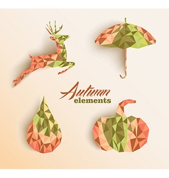 Fall season triangle composition icon set eps10 vector