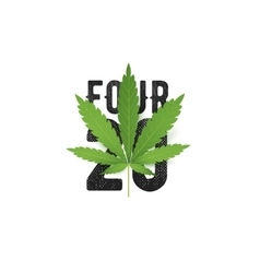 420 four-twenty T-Shirt print with vector image