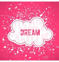 Red dream inspirational background cute vector