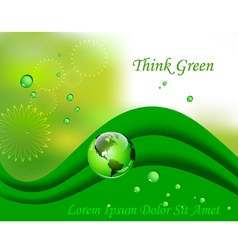 Abstract green environmental concept vector image