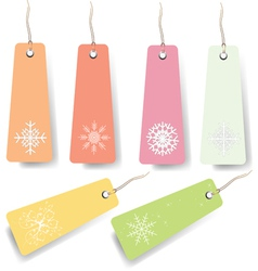 Pastel shopping tags vector