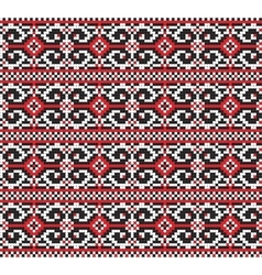 Ukrainian folk art traditional embroidery pattern vector